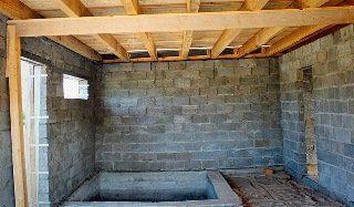 Фото процесса строительства бани с бассейном