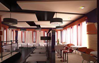 Дизайн интерьера кафе в Москве