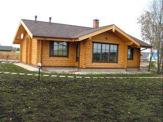 Проекты одноэтажных домов из бревна в Москве