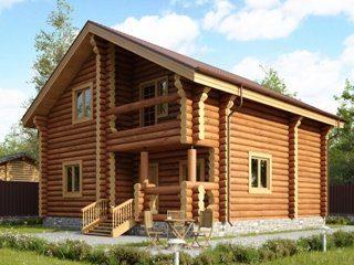 Проекты домов из бревна в Москве