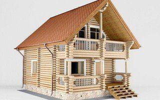 Проекты домов 5х5 из оцилиндрованного бревна в Москве