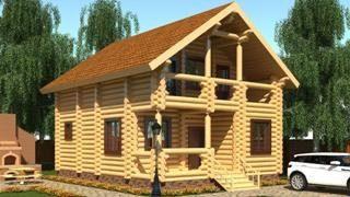 Проекты домов 5х6 из оцилиндрованного бревна в Москве