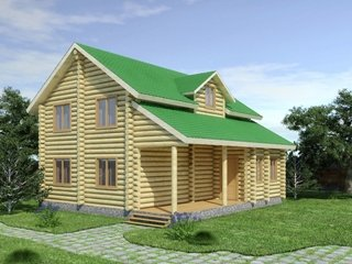 Проекты домов из бревна 5х7 в Москве