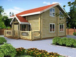Проекты домов 6х7 из оцилиндрованного бревна в Москве