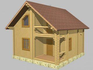 Проекты домов 6х9 из оцилиндрованного бревна в Москве
