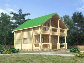 Проекты домов 7х7 из оцилиндрованного бревна в Москве