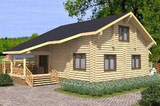 Проекты домов 7х8 из оцилиндрованного бревна в Москве
