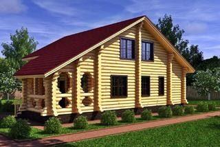 Проекты домов 8х8 из оцилиндрованного бревна в Москве