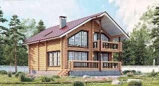 Проекты домов 8х10 из оцилиндрованного бревна в Москве