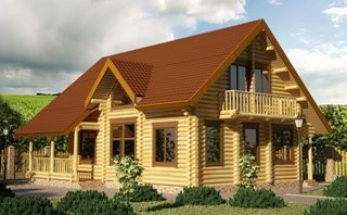 Проекты домов 9х9 из оцилиндрованного бревна в Москве
