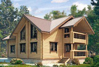Проекты домов 9х10 из оцилиндрованного бревна в Москве