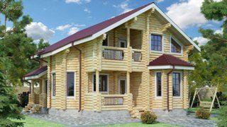 Проекты домов 9х12 из оцилиндрованного бревна в Москве