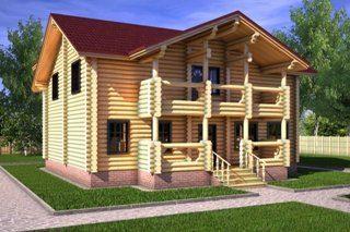 Проекты домов 10х10 из оцилиндрованного бревна в Москве