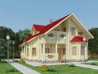 Проекты домов 11х11 из оцилиндрованного бревна в Москве
