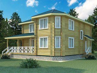 Проекты домов 12х12 из оцилиндрованного бревна в Москве