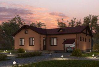 Проекты одноэтажных домов из кирпича в Москве