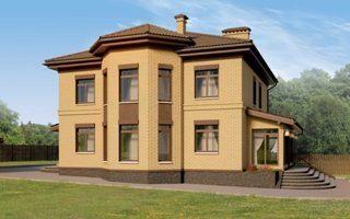 Проекты двухэтажных домов из кирпича в Москве