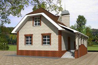 Проекты домов из кирпича 6х7 в Москве