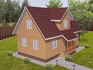 Проекты домов из кирпича 6х9 в Москве