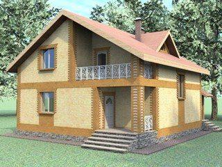 Проекты домов из кирпича 7х8 в Москве