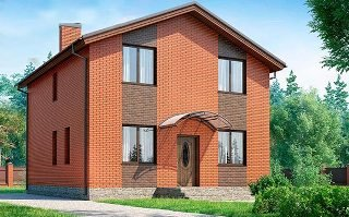 Проекты домов из кирпича 8х8 в Москве