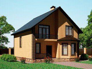 Проекты домов из кирпича 8х9 в Москве