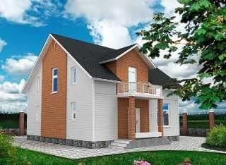 Проекты домов из кирпича 9х9 в Москве
