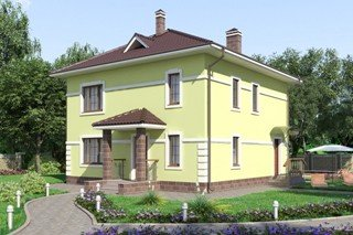 Проекты домов из кирпича 10х10 в Москве