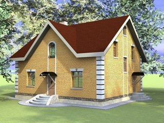 Проекты домов из кирпича 10х12 в Москве