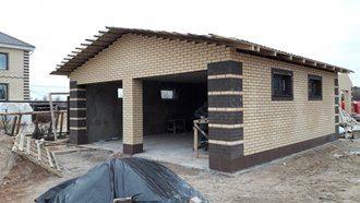 Строительство гаража из кирпича в Москве