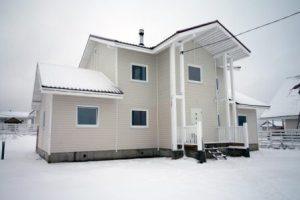 Каркасный зимний дом под ключ в Москве