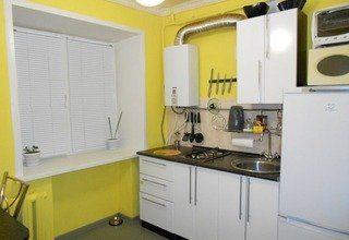 Ремонт кухни в хрущевке с газовой колонкой под ключ