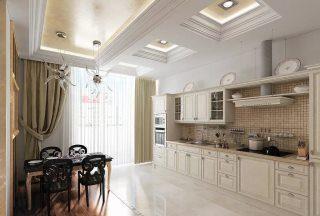 Фото процесса Элитного ремонта кухни в Москве
