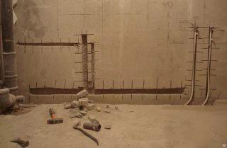 Фото процесса Штробление стен в Москве