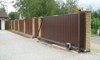Откатные ворота под ключ в Москве