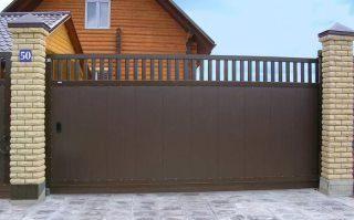 Фото процесса производства Металлические откатные ворота в Москве