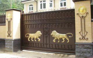 Кованые ворота откатные в Москве