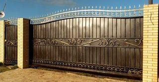 Фото процесса производства Кованые ворота откатные в Москве