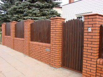 Кирпичный забор под ключ в Москве